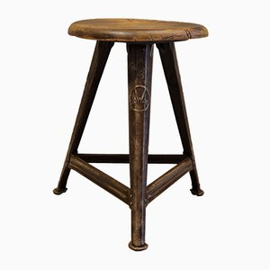 Industrial Tripod Stool by Rober Wagner for Rowac, 1920s