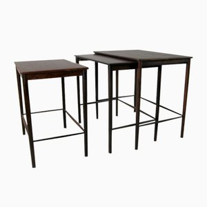 Rosewood Nesting Tables by Greta Jalk for Poul Jeppesens Møbelfabrik, 1960s