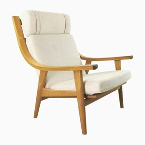 Model GE 530 High-Back Lounge Chair by Hans J. Wegner, 1970s