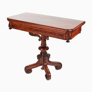 Tavolo da gioco vittoriano in noce, metà XIX secolo
