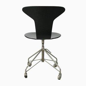 Chaise Pivotante Mosquito Modèle 3115 Vintage par Arne Jacobsen pour Fritz Hansen, 1955