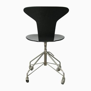 Vintage Model 3115 Mosquito Swivel Chair by Arne Jacobsen for Fritz Hansen, 1955