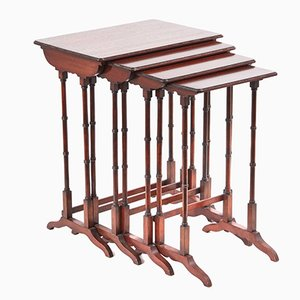 Edwardian Mahogany Nesting Tables, 1900s