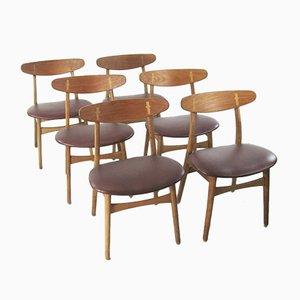 Chaises de Salon Modèle CH30 Vintage par Hans J. Wegner pour Carl Hansen & Søn, Set de 6