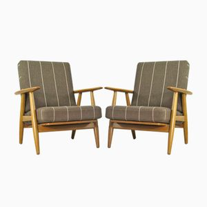 Vintage Cigar Chairs by Hans J. Wegner for Getama, Set of 2