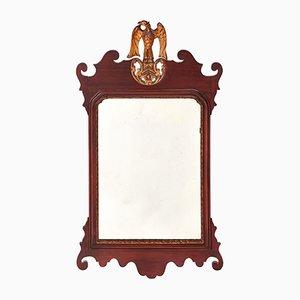 Specchio da parete grande antico in mogano