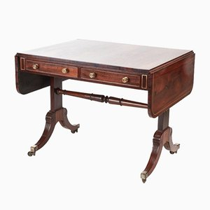 19th-Century Regency Brass Inlaid Rosewood Side Table