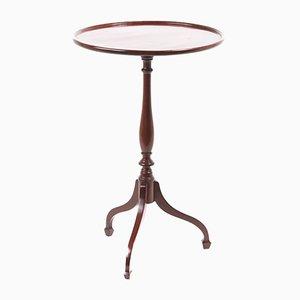Tavolino Giorgio III tripode in mogano
