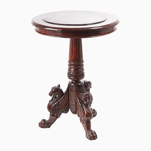 Carved Mahogany Table, 1880s