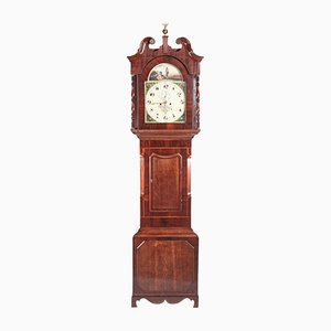 Antique Mahogany & Oak Longcase Clock from W Helliwell of Leeds
