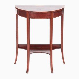 Edwardian Inlaid Mahogany Demi-Lune Console Table
