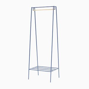 A Clothes Rail in Blueberry with a Pine Pole by &New