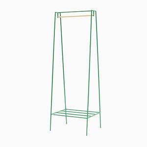 Une Tringle à Linge en Vert avec une Barre en Pin par &New
