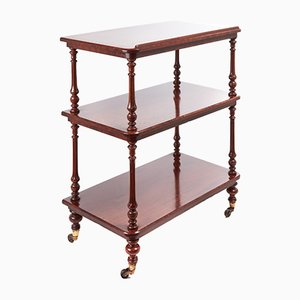 Victorian Mahogany Three-Tier Dumb Waiter, 1850s