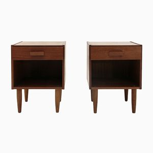 Mid-Century Italian Teak Nightstands, 1960s, Set of 2