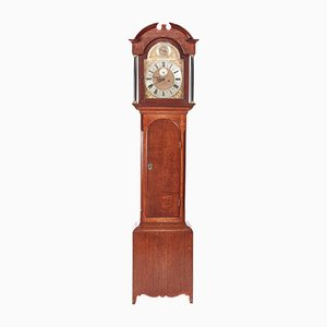 Antique Oak & Brass 8-Day Grandfather Clock