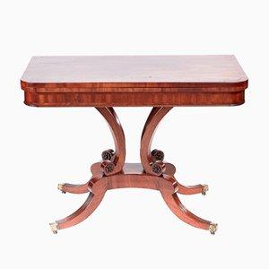 Table à Cartes Regency Antique en Acajou