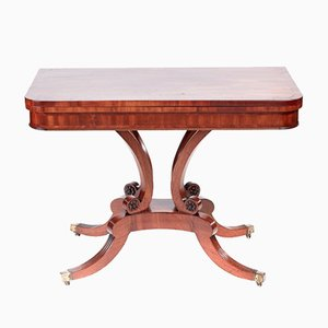 Tavolo da gioco Regency antico in mogano