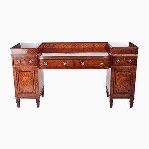 Antique Mahogany & Brass Inlaid Sideboard