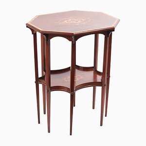 Antique Fine Inlaid Mahogany Side Table
