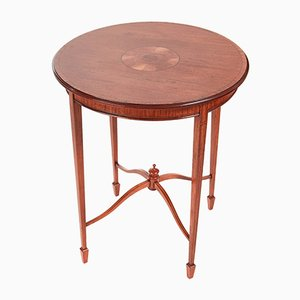 Antique Inlaid Satinwood Round Occasional Table