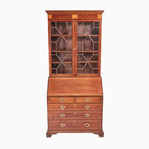 Antique George III Inlaid Mahogany Bureau