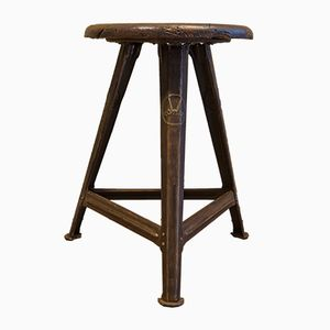 Bauhaus Industrial Stool by Rober Wagner for Rowac, 1920s