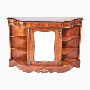 Antique Victorian Burr Walnut Credenza, 1850