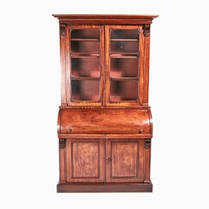 Antique William IV Mahogany Cylinder Bookcase