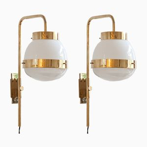 Delta Wall Sconces by Sergio Mazza for Artemide, 1960s, Set of 2