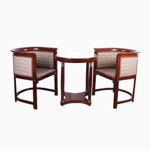 Antique Chairs & Table by Josef Hoffmann for Jacob & Josef Kohn