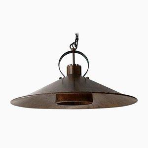 Dänische Mid-Century Deckenlampe aus Kupfer