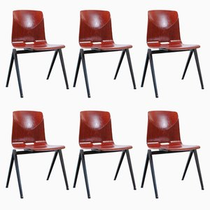 S22 Compass Pyramid Chairs from Galvanitas, 1960s, Set of 6
