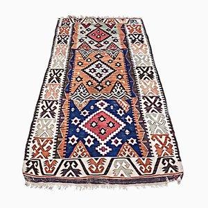 Türkischer Mid-Century Adana Kelim Teppich aus Schafwolle, 1930er