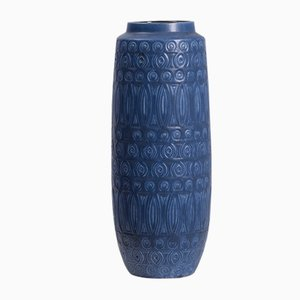 Large Blue Vase from Bay Keramik, 1970s