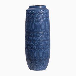 Large Blue Vase from Bay Keramik, 1970s