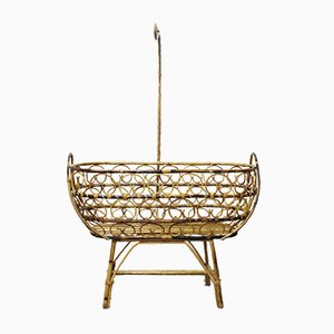 Wicker Crib, 1950s