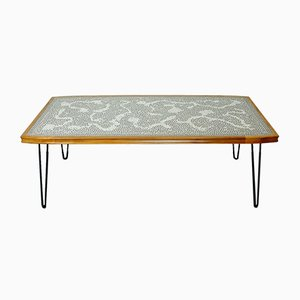 Mid-Century Mosaic Top Coffee Table