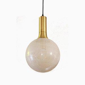 Lampada vintage in vetro e metallo