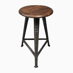 Vintage Industrial Stool by Robert Wagner for Rowac, 1930s