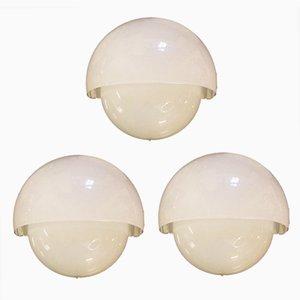 Vintage Wandlampen von Vico Magistretti für Artemide, 3er Set