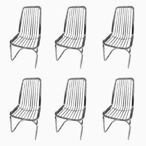 Chaises Vintage en Acier, Italie, Set de 6