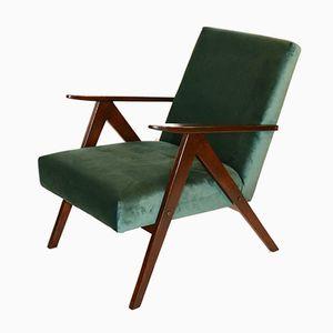 Vintage Var Green Velvet Easy Chair, 1970s