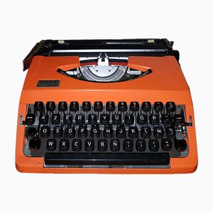 Mid-Century Orange Typewriter from Jappy
