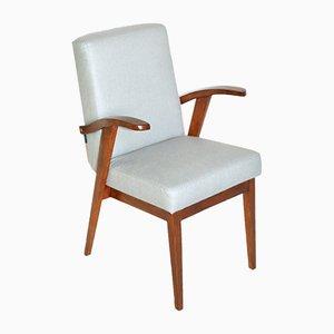 Vintage Sessel mit hellem Fischgrätmuster von Mieczyslaw Puchala, 1970er
