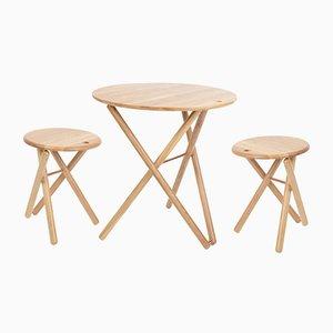 My Ami Tisch und 2 Hocker von Alexander White