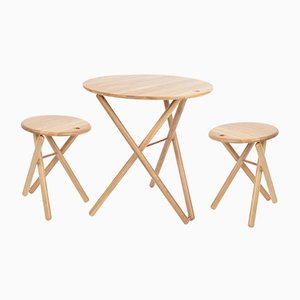 Table et 2 Tabourets My Ami par Alexander White