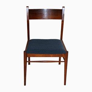 Blaue Vintage Esszimmerstühle, 1960er, 5er Set