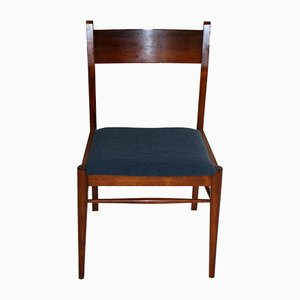 Vintage Blue Dining Chairs, 1960s, Set of 5