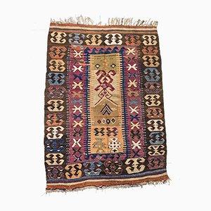 Alfombra Kilim turca antigua de lana, años 10